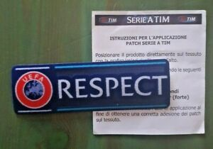 patch toppa scritta respect europa champions league uefa 2018 2019 2020 2021 blu