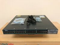 Cisco WS-C3560X-48PF-S 48 Port Gigabit PoE+ IPBase Switch 15.2 OS 1100WAC Power