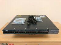 Cisco WS-C3560X-48PF-S 48 Port Gigabit PoE+ IPBase Switch 15.2 OS 1100WAC Power