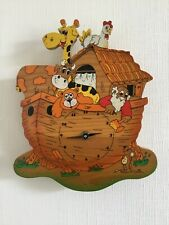 Bertolucci Child Nursery Wooden Arc Boat Animal Clock Working