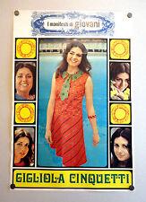 I MANIFESTI DI GIOVANI - Poster Vintage - GIGLIOLA CINQUETTI - 73x50 Cm [26]