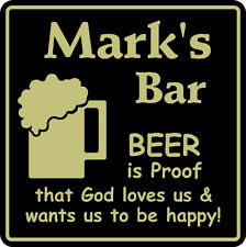 Personalized Beer Is Proof Bar Sign #5 Pub Man Cave Gift Custom Usa Made