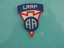 Military Patch US Army 82nd Airborne Division LRRP Color AA Rare  - Sew On