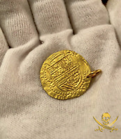 SOLID GOLD SPAIN ESCUDOS PENDANT JEWELRY NECKLACE SHIPWRECK TREASURE COIN PIRATE