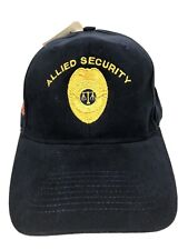 NEW Vintage Allied Security Baseball Hat Universal Services Stitched Cotton H10