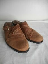 Clarks Artisan Sz 9M Brown Leather Slide Mule Shoes