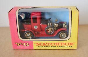 Matchbox Models of Yesteryear Y-11 Packard Landaulet Mint & Boxed.