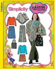 New Simplicity 4897 Girls Pattern Trousers, Top, Poncho and Bag SIZE Girl 8 -16