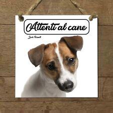 Jack Russell Terrier MOD 1 Attenti al cane Targa cane cartello ceramic tiles