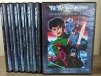 Yu Yu Hakusho DVD Lot from The Spirit Detective Saga & Dark Tournament Saga Pt 1