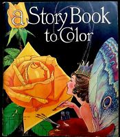 STORY BOOK TO COLOR ~Vintage 1940's Children's Coloring Story Book ~Black Sambo