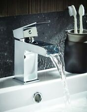 Chrome Waterfall monobloc mixer Tap with clicker waste (10 YEAR WARRANTY)