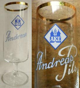 Altes Bierglas Andreas Pils AKE - Andreas Klosterbräu Eschwege - Pilsglas 0,2 l
