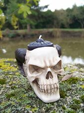 65516  FIGURINE TETE MORT BOUGEOIR CRANE HEROIC FANTASY  GOTHIQUE BIKER