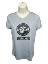 2014 NYRR Brooklyn Half Run for Life Womens Medium Gray Jersey
