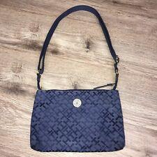 "Tommy Hilfiger Womens Small Purse Hand Bag Blue 10""x 6.5"""