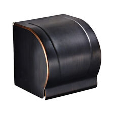 Toilet Waterproof Roll Paper Holder Tissue Hanger with Cover Oil Rubbed Bronze