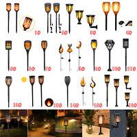 LED Flame Solar Torch Light Waterproof Flickering Dancing Garden Lantern Lamp