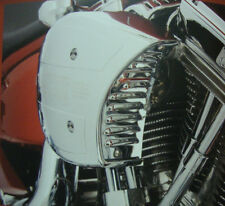 BIG DOG CHROME FACTORY AIR CLEANER LOUVERED PLATE FITS S&S CARBURETOR SUPER G