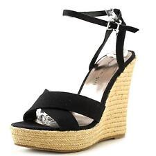 Madden Girl Women's Sandals Shoes Viicki Fabric Espadrille Sandals Black  8M