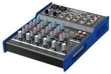 6-Kanal USB Studio Mischpult PA Mixer Digital DSP Effekt Gerät 3-Band EQ LED 48V