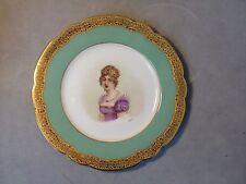 Antique Sevres Porcelain Plate Marie Louise Artist Signed