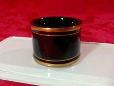 Fitz & Floyd FF Fine Porcelain PAVILLON Japan 293 Black Gold Trim Napkin Ring