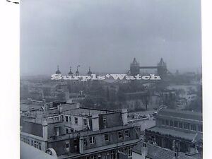 B/W 6x6 1x Negative 1950s 1960s London Tower Bridge From  Roof Of Corn Exchange