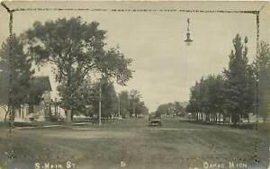 Michigan, MI, Capac, South Main Street 1910's Real Photo Postcard W/Glitter