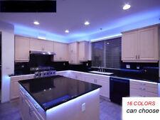 Kitchen GlowUnder Cabinet RGB LED Light Strip 16ft SMD 5050 Kit Remote Power