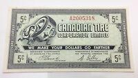 1962 Canadian Tire Five 5 Cents CTC-7-A Money Bonus Banknote D008