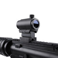 5 MOA Red/Green Dot Sight Holographic Airsoft Rifle Scope&20mm Mount For Hunting