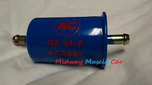 NEW blue with red AC delco logo GF-61-P fuel filter Chevy Chevelle Pontiac GTO