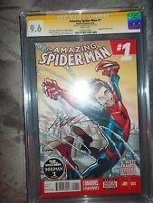 Amazing Spider-man Vol 3 # 1 CGC 9.6 Signed by Humberto Ramos Look !!!!