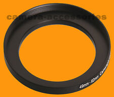 49mm to 62mm 49-62mm Stepping Step Up Filter Ring Adapter 49mm-62mm 49-62 UK