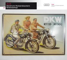 Blechschild DKW Motorrad RT 125 und RT 200 Audi Tradition