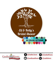 Round Personalized Bridal Shower//Wedding Sticker Labels Autumn Leaves