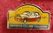 PIN'S VOITURE RENAULT SUPER 5 GT TURBO RALLYE TOUR DE CORSE COLLOMP PELLEGRINO