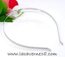 Serre tête cercle accessoire pour cheveux métal chrome customisation création