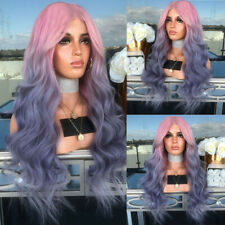 Sexy Women Synthetic Hair Long Curly Wavy Ombre Natural Full Wigs Party Cosplay