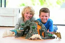 Childrens Toy Dinosaur Volcano KID PLAYSET T-Rex Play Figures Girl Boy Figurines