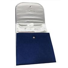Blue Velvet Jewelry Folder Organizer Storage Display Gift Box for Necklace