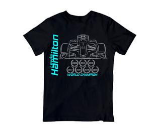 Lewis Hamilton 2021 T-Shirt 7x World Champion F1 racing Adult