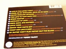 Late in the Lonely Night [Digipak] by Tommy McCoy (Cd, 2012, Earwig)