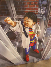 "MIKE HARPER ""SUPERKID"" AIRBRUSH BELL TELEPHONE ILLUSTRATION GICLEE PRINT CA 1990"