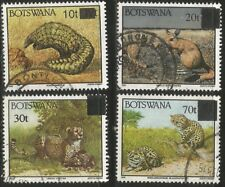 BOTSWANA 1994-6 WILD ANIMALS SURCHARGES Sc#594A-7 COMPLETE USED SET 1602