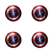 US! Avengers Captain America Shield Rubber Round Coaster (4 pack)