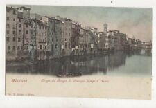 Firenze Tergo di Borgo S Jacapo Lungi l'Arno Vintage U/B Postcard Italy 024b