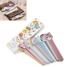 30Pcs School Supply Cute Animal Paper Bookmarks Book Holder Stationery Kids Gift