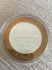 More details for las vegas monte carlo $10 limited edition millennium gaming token 999 silver